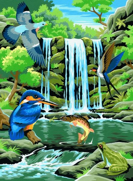 Reeves Junior Malen nach Zahlen Wasserfall