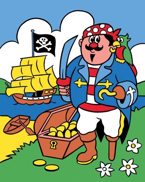 Reeves Malen nach Zahlen Pirat