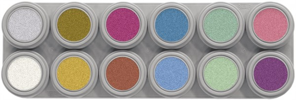 Grimas Water Make-up Pearl Palette 12 (12 x 2,5 ml)