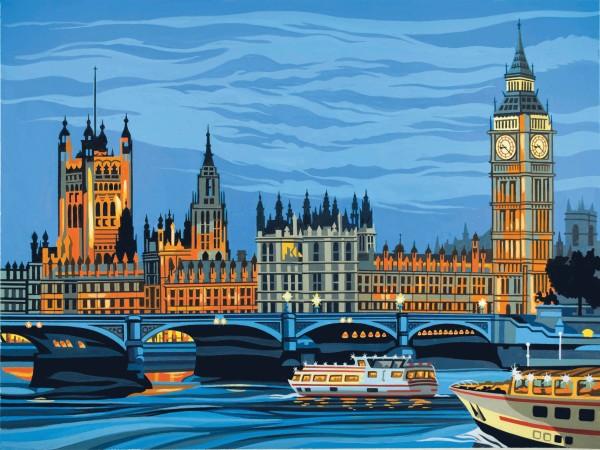 Reeves Malen nach Zahlen Parlamentsgebäude