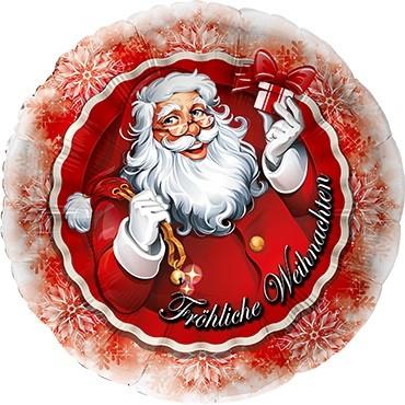 Weihnachtsmann mit Geschenk Folienballon