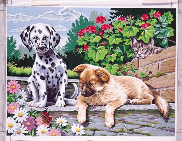 Reeves Malen nach Zahlen Zwei Hunde