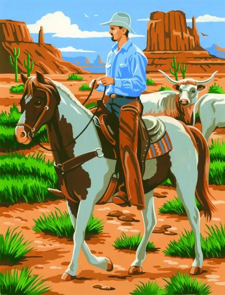 Reeves Junior Malen nach Zahlen Cowboy