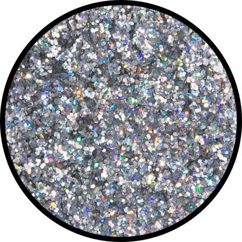 12 g Holographischer Streu Glitzer Silber Juwel Mittel