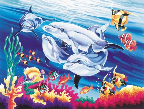 Reeves Malen nach Zahlen Delfine