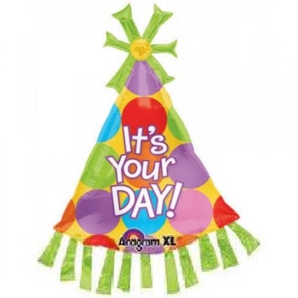 Its your Day Folienballon Hut - 88cm