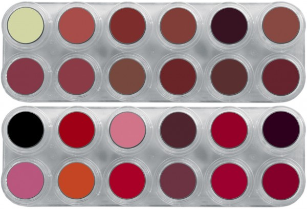 Grimas Lipstick Pure LK(LB+LF) Palette - 24 x 2,5ml