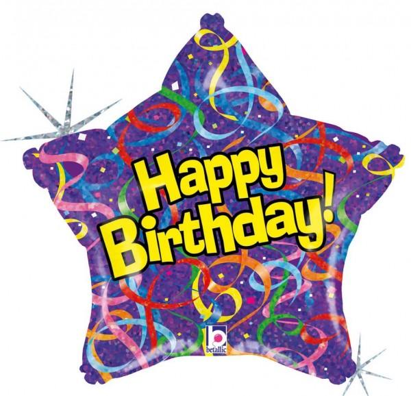 Happy Birthday Star Folienballon