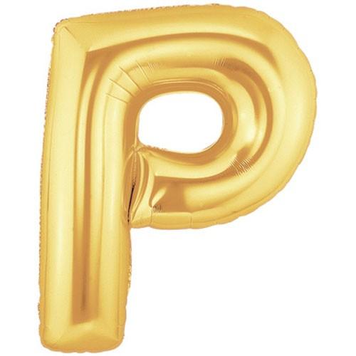 Buchstaben P gold Folienballon - 101cm