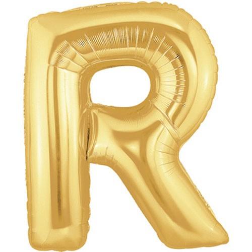 Buchstaben R gold Folienballon
