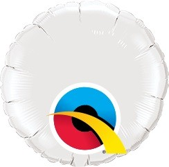 Mini Folienballon rund weiß