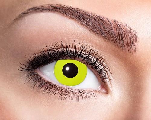 Eyecatcher Fantasy 3 Monatslinsen Yellow Crow Eye