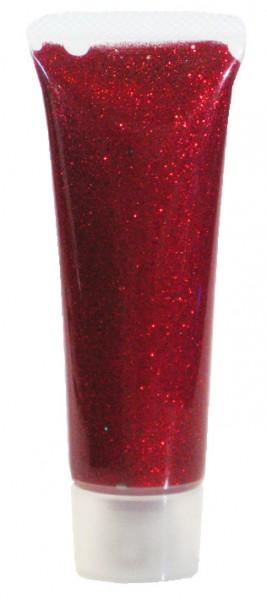 Eulenspiegel Glitzer Gel Rot Juwel