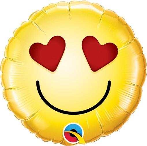 Mini Folienballon Smiley Love - 22,5cm