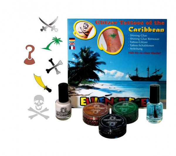 Tattoo Glitzer Set Tattoos of the Caribbean (XL) Eulenspiegel