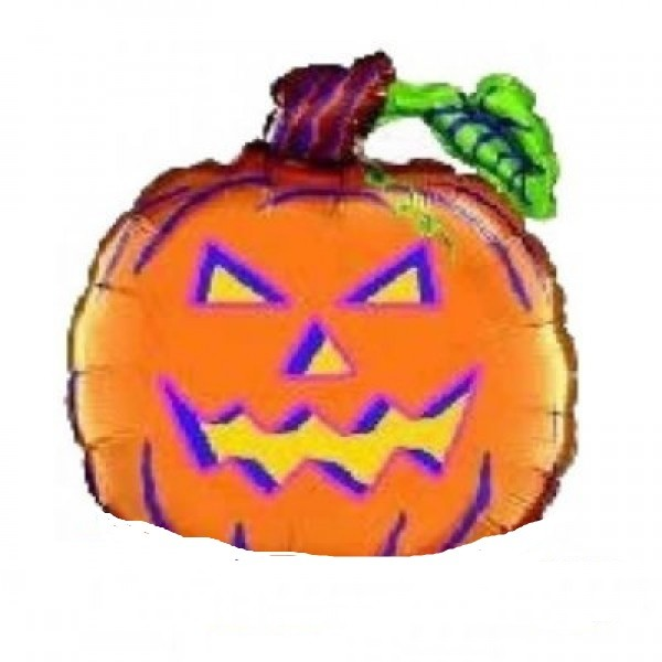 Scary Pumpkin - Kürbis Halloween Folienballon - 66cm