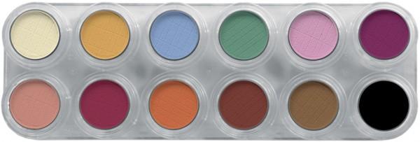 Grimas Eyeshadow - Rouge Palette 12 U - 12 x 2g