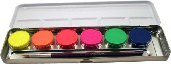 Eulenspiegel 6 Neon Farben Metall Palette