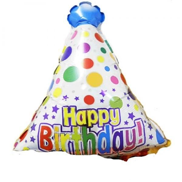 Happy Birthday Party Hut Folienballon - 70cm