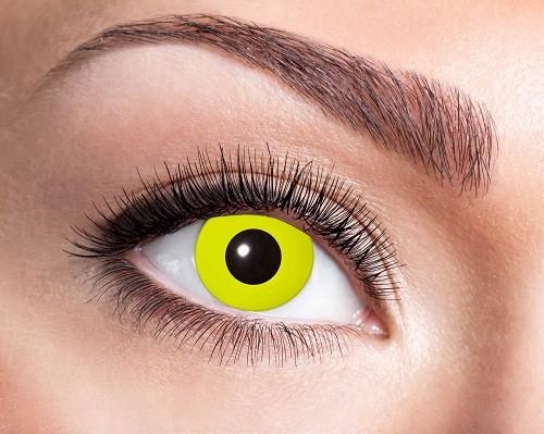 Eyecatcher Fantasy 12 Monatslinsen Yellow Crow Eye