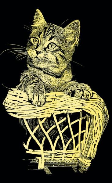 Reeves Mini Gravurfolien Gold Katze