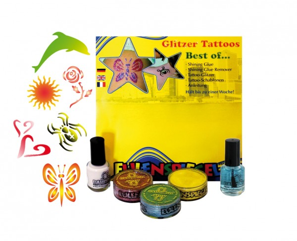 Tattoo Glitzer Set Best Of (XL) Eulenspiegel