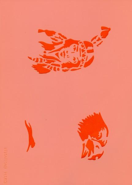 Airbrush Schablone Indian Eulenspiegel