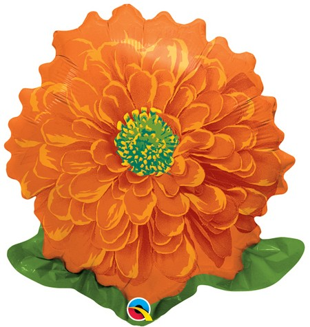 orange Ringelblume Folienballon - 45cm