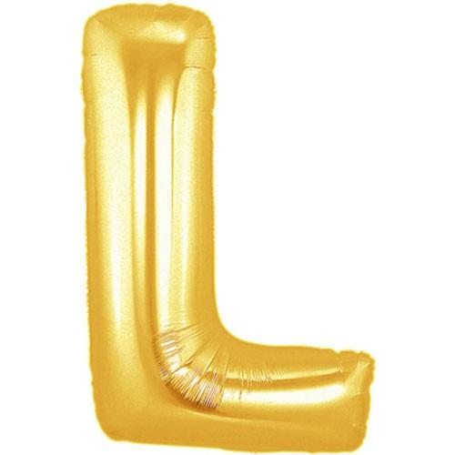 Buchstaben L gold Folienballon