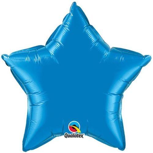 Stern Sapphire Blue Folienballon - 50cm - Qualatex