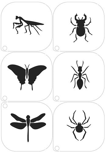 Grimas Schminkschablone Insekten Nr. 16