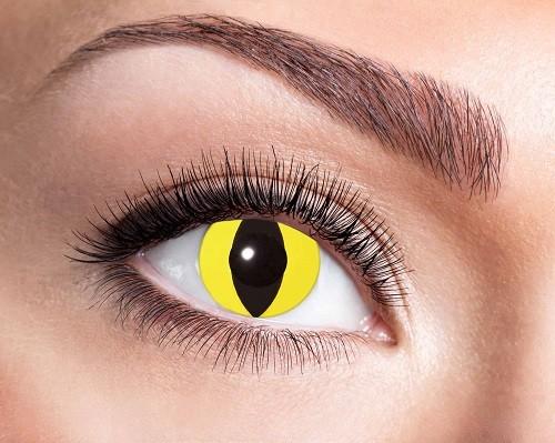 Eyecatcher Fantasy 3 Monatslinsen Yellow Cat