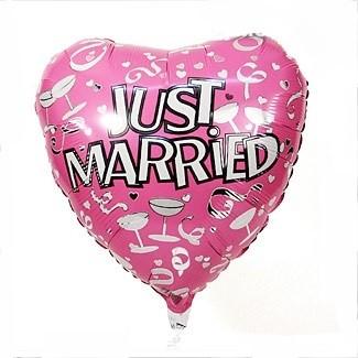 Herz Pink Folienballon - 45 cm