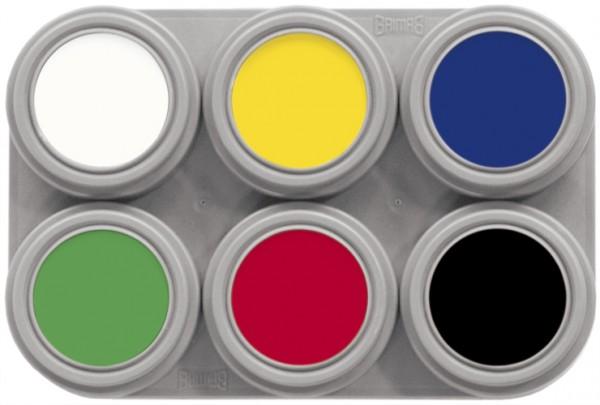 Grimas Water Make-up Palette 06 (6 x 2,5 ml)