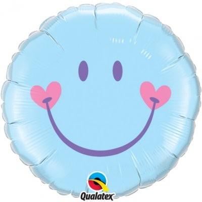 Sweet Smile blau Folienballon - 45cm