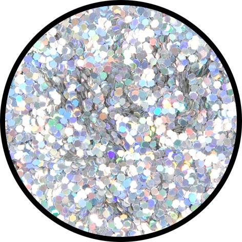 6 g Holographischer Streu Glitzer Silber Juwel Grob