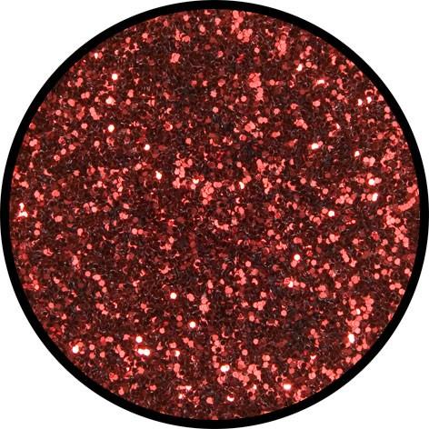 2 g Eulenspiegel Polyester Streu Glitzer Rosenrot