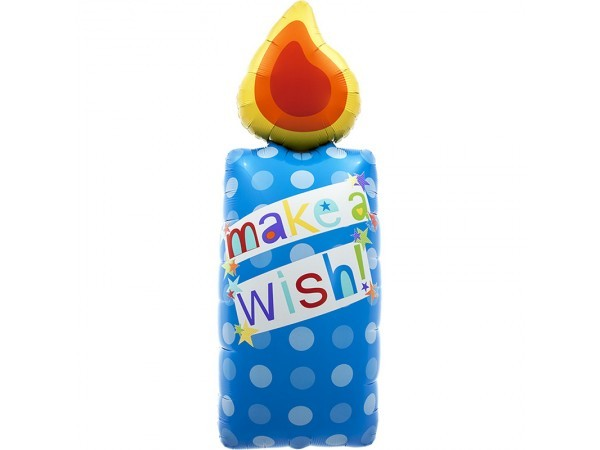 Make a Wish Kerze Folienballon - 112cm