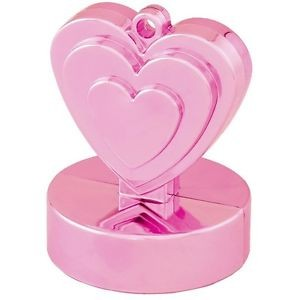 Rosa Herz Luftballon Gewicht