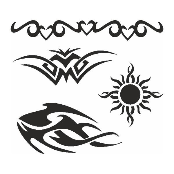 Selbstklebe Schablonen Set Tribals (XL) Eulenspiegel