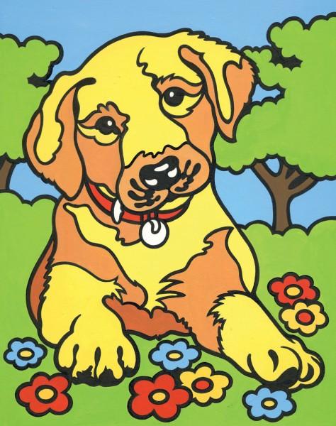 Reeves Mini Malen nach Zahlen Hundewelpe