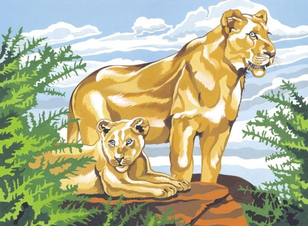 Reeves Malen nach Zahlen Löwe und Junges