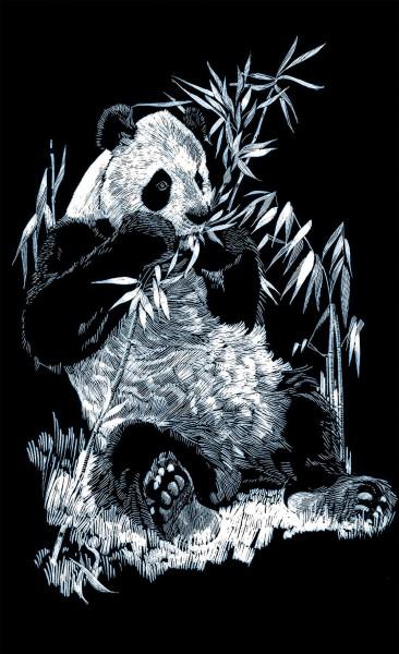 Reeves Mini Gravurfolien Silber Panda