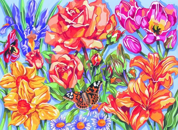 Reeves Malen nach Zahlen Blumen
