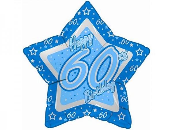 60.Geburtstag Stern Folienballon - 53cm