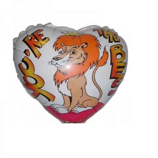 Löwe - You're The Best Herz Folienballon - 45cm