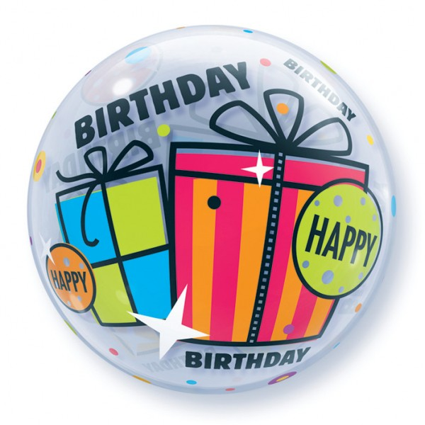 Qualatex Bubble Luftballons Happy Birthday Geschenke