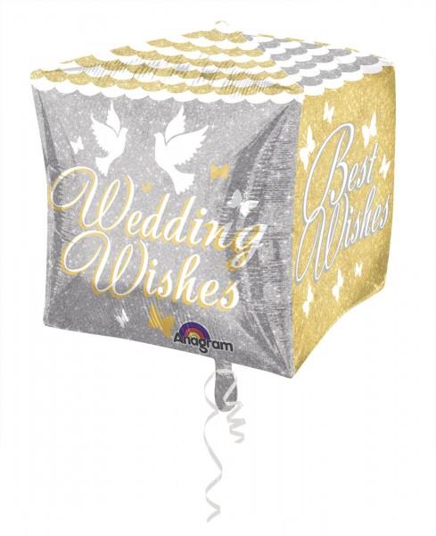 Hochzeit 's Grüße Cubez Würfel- Folienballon