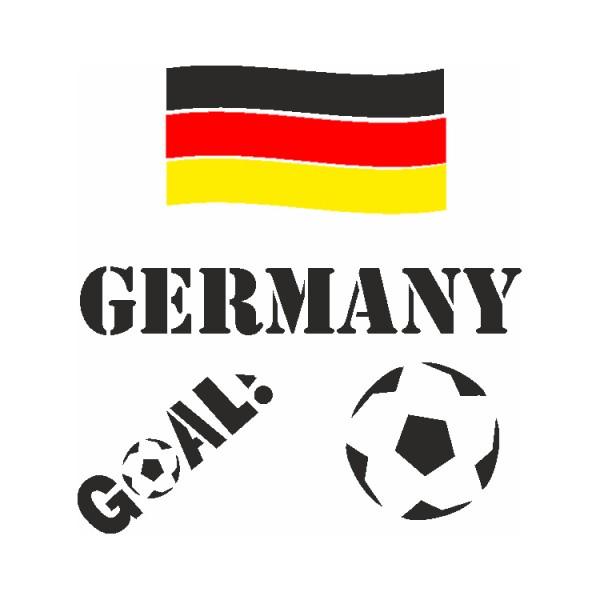 Selbstklebe Schablonen Set Germany Eulenspiegel