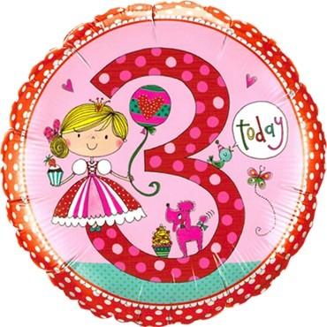 Rachel Ellen - Age 3 Princess Folienballon